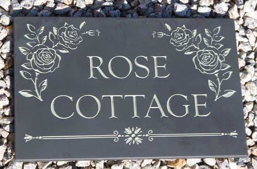 Made to Order Slate House Signs (10 - 12mm Thick)   The Sign Maker Shop